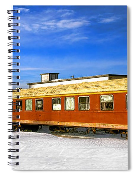 Belfast And Moosehead Railroad Cars In Winter Spiral Notebook