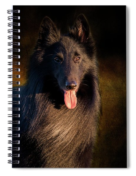 Belgian Groenendael Portrait Spiral Notebook