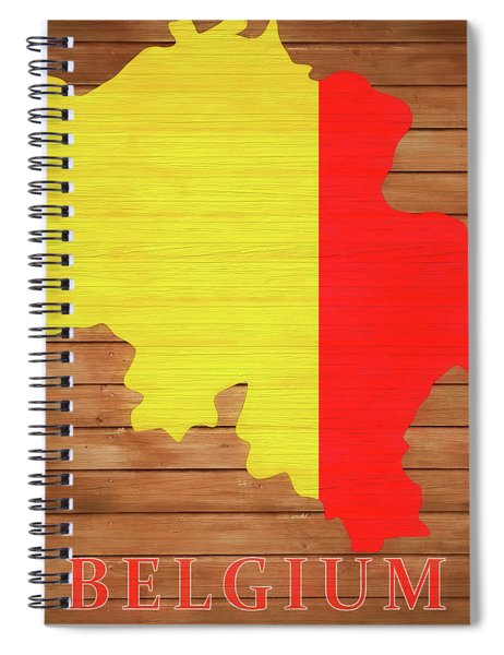 Belgium Rustic Map On Wood Spiral Notebook