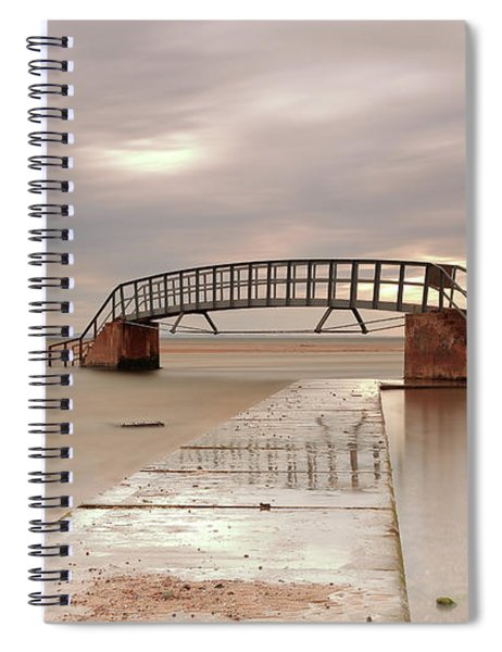 Belhaven Stairs And The Bass At Low Tide Spiral Notebook