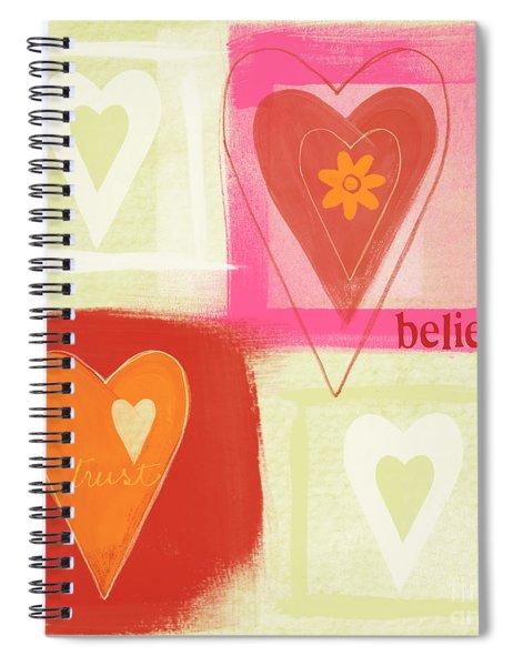Believe In Love Spiral Notebook