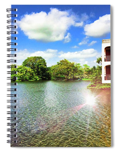 Belize River House Reflection Spiral Notebook