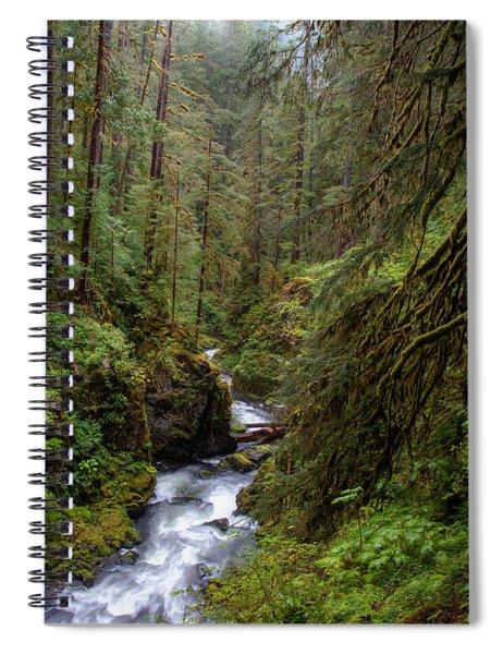 Below The Falls Spiral Notebook