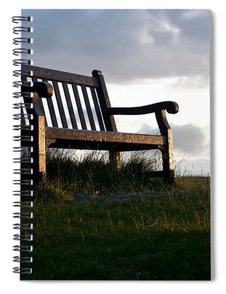 Bench At Sunset Spiral Notebook