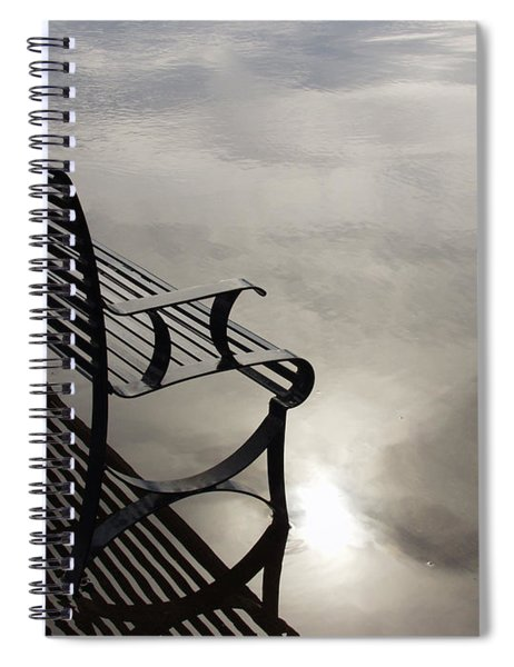 Bench In The Clouds Spiral Notebook
