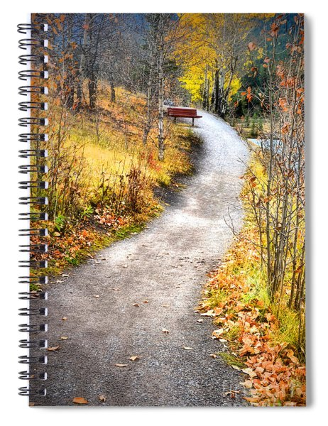 Bench On A Hill Spiral Notebook