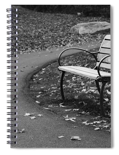 Bench On The Walk Spiral Notebook