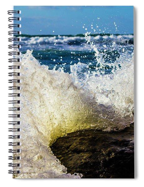 Wave Bending Backwards Spiral Notebook