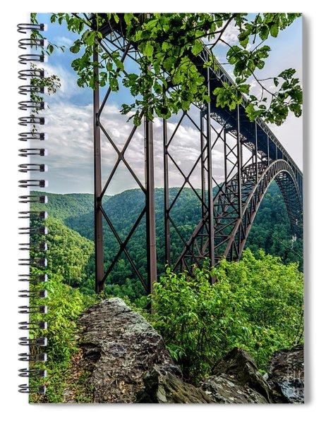 Beneath New River Gorge Bridge Spiral Notebook