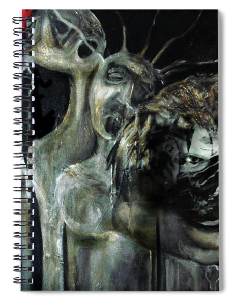 Beneath The Mask Spiral Notebook