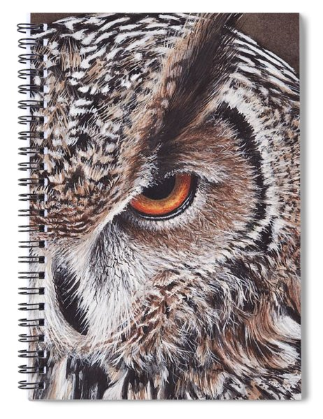 Bengal Eagle Owl Spiral Notebook