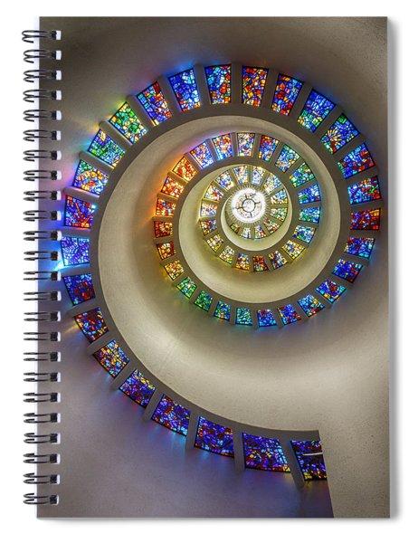 Bent Toward The Divine Spiral Notebook