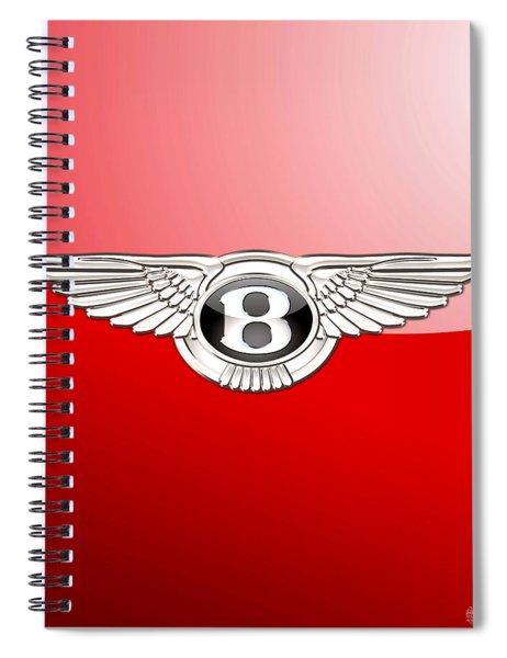 Bentley 3 D Badge On Red Spiral Notebook