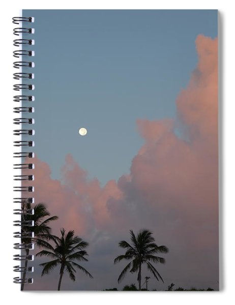 Bermuda Morning Moon Spiral Notebook
