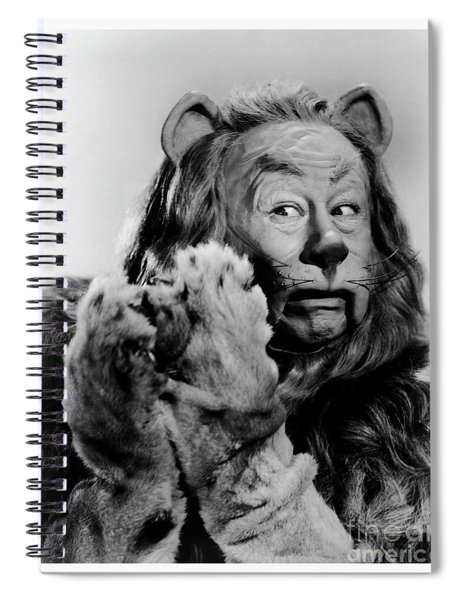 Cowardly Lion In The Wizard Of Oz Spiral Notebook