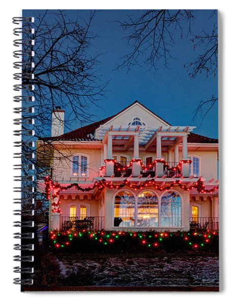 Best Christmas Lights Lake Of The Isles Minneapolis Spiral Notebook