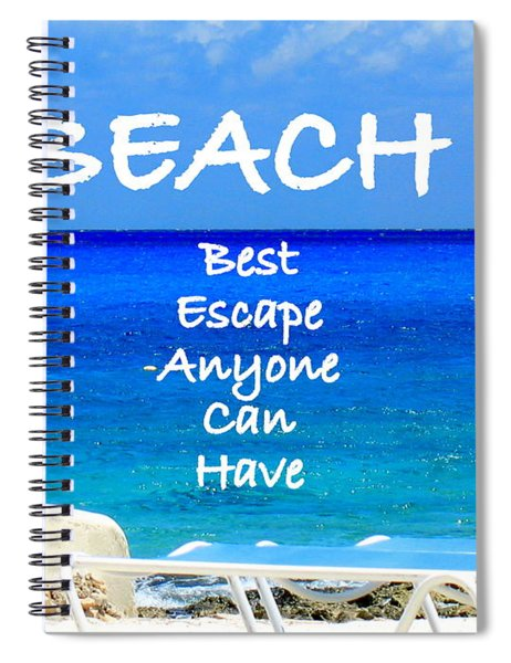 Best Escape Spiral Notebook by Patti Whitten