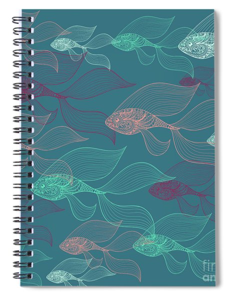 Beta Fish  Spiral Notebook