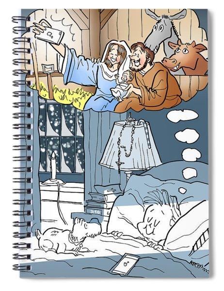 Nativity Selfie Spiral Notebook