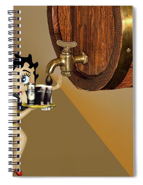 Betty Boop Serving Murphys Spiral Notebook