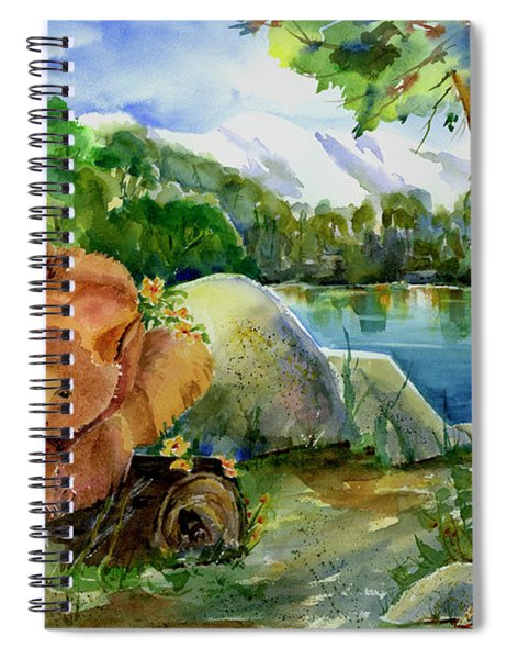 Between A Rock And Hardplace Spiral Notebook