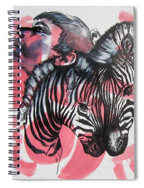 Between Stripes Spiral Notebook