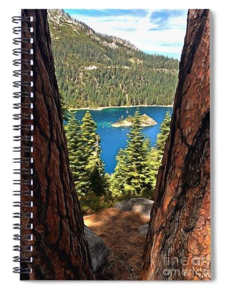 Between The Pines Spiral Notebook