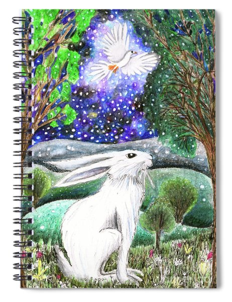 Between The Trees Spiral Notebook