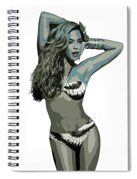 Beyonce Cutout Art Spiral Notebook