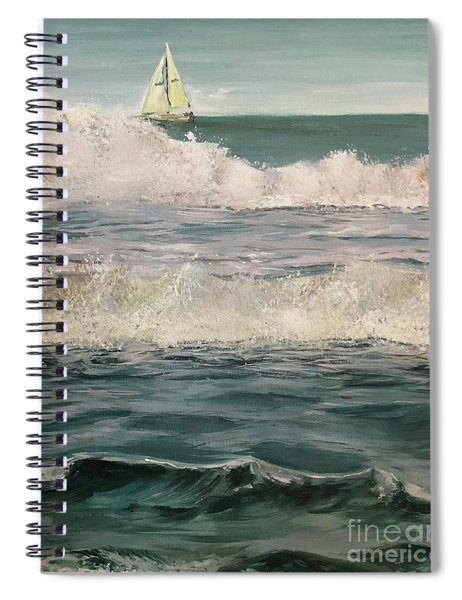 Beyond The Breakers Spiral Notebook