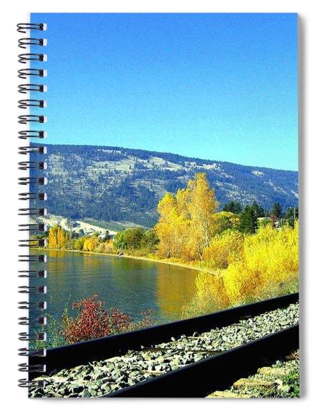 Beyond The Next Bend Spiral Notebook