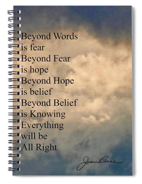 Beyond Words Spiral Notebook
