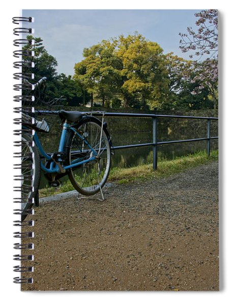 Bicycle And Tokyo Imperial Palace Spiral Notebook