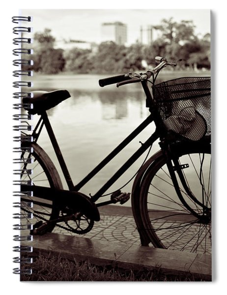 Bicycle By The Lake Spiral Notebook