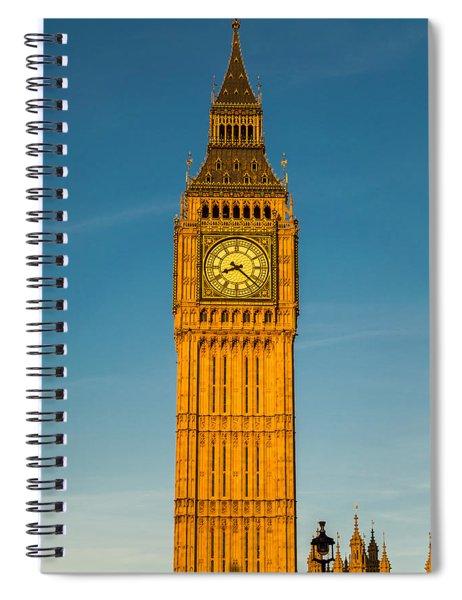 Big Ben Tower Golden Hour London Spiral Notebook