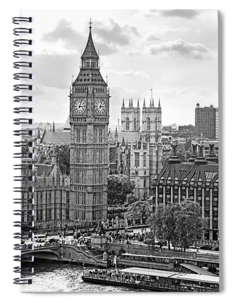 Big Ben With Westminster Abbey Spiral Notebook