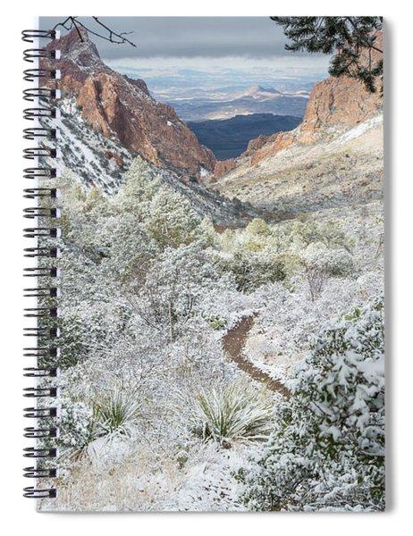 Big Bend Window With Snow Spiral Notebook