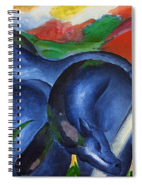 Big Blue Horses Spiral Notebook