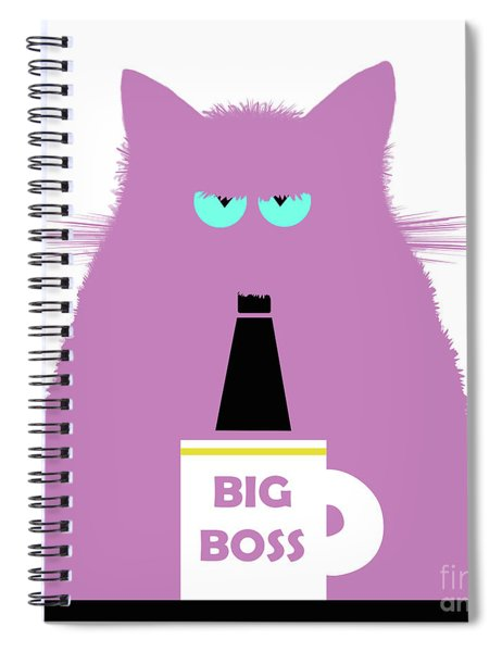Big Boss Lilac Cat Spiral Notebook