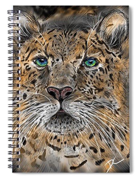 Big Cat Spiral Notebook