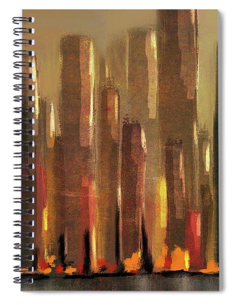Big City Sunset Spiral Notebook