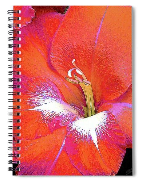 Big Glad In Orange And Fuchsia Spiral Notebook