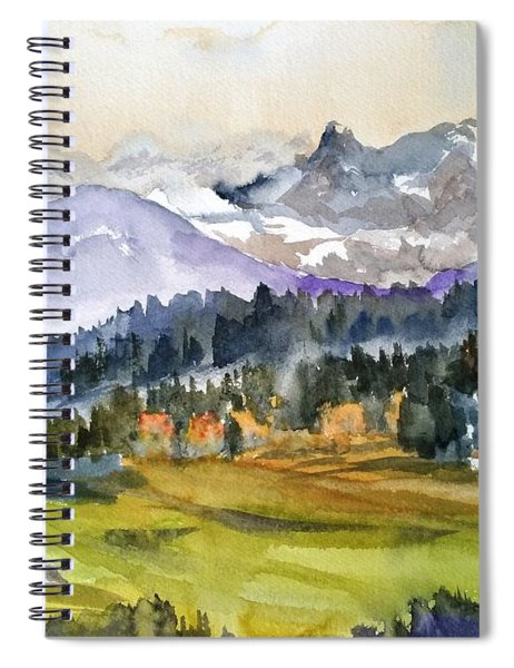 Big Mountain Sunset Spiral Notebook