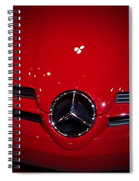 Big Red Smile - Mercedes-benz S L R Mclaren Spiral Notebook