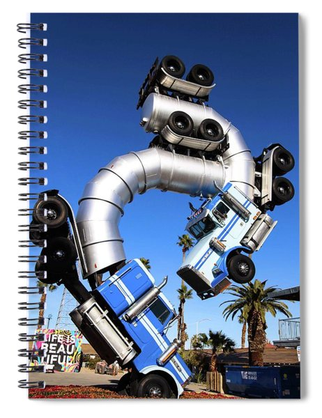 Big Rig Jig Balancing In Vegas Spiral Notebook
