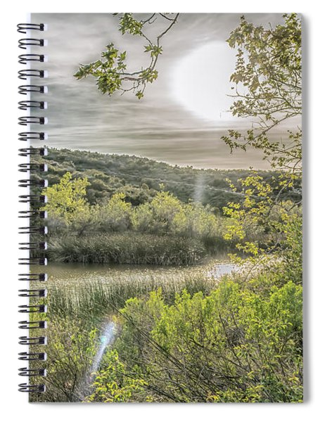 Spiral Notebook featuring the photograph Big Sun by Alison Frank