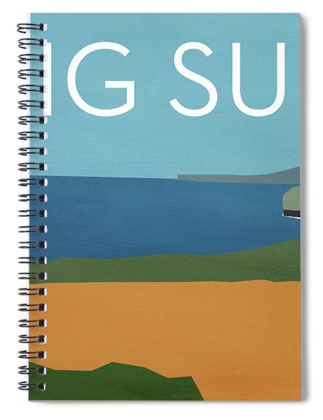 Big Sur Landscape- Art By Linda Woods Spiral Notebook