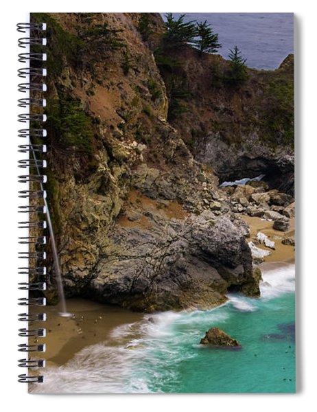 Big Sur Waterfall Spiral Notebook