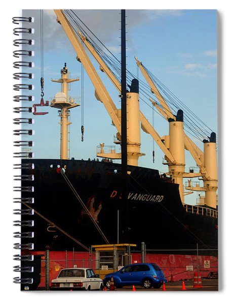 Big Tanker In The Harbor Spiral Notebook