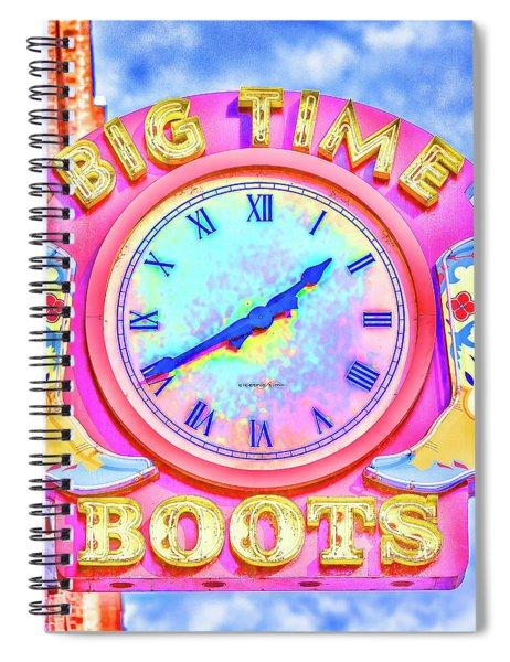 Big Time Boots - Nashville Hot Pink Spiral Notebook
